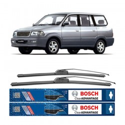 "Bosch Sepasang Wiper Frameless New Clear Advantage Mobil Toyota Kijang Kapsul 20"" & 19"" - 2 Pcs/Set"