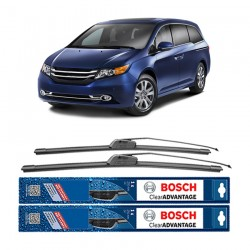 "Bosch Sepasang Wiper Frameless New Clear Advantage Mobil Honda Odyssey RB1 24"" & 24"" - 2 Pcs/Set"