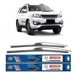 "Bosch Sepasang Wiper Frameless New Clear Advantage Mobil Toyota Fortuner 21"" & 19"" - 2 Pcs/Set"