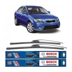"""Bosch Sepasang Wiper Depan Frameless New Clear Advantage Mobil KIA Pride New (22"""" & 16"""") - 2 pcs/set"""