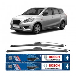 "Bosch Sepasang Wiper Frameless New Clear Advantage Mobil Datsun Go+ 20"" & 16"" - 2Buah/Set"