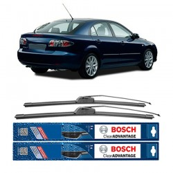 "Bosch Sepasang Wiper Depan Frameless New Clear Advantage Mobil Mazda 6 GG (21"" & 18"" ) - 2 pcs/set"