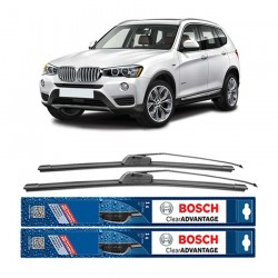 "Bosch Sepasang Wiper Frameless New Clear Advantage Mobil BMW X3 22"" & 20"" - 2Buah/Set"