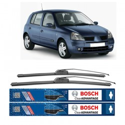"Bosch Sepasang Wiper Frameless New Clear Advantage Renault Clio BB-CB-SB 21"" & 21"" - 2Buah/Set"
