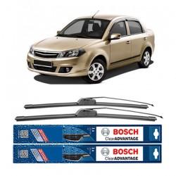 "Bosch Sepasang Wiper Frameless New Clear Advantage Mobil Proton Saga 22"" & 17"" - 2 Pcs/Set"