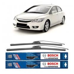 "Bosch Sepasang Wiper Frameless New Clear Advantage Mobil Honda Civic FD 26"" & 22"" - 2Buah/Set"