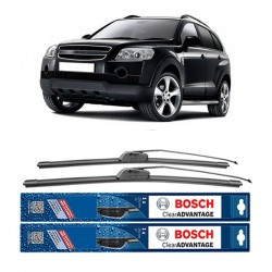 "Bosch Sepasang Wiper Frameless New Clear Advantage Mobil Chevrolet Captiva 24"" & 16"" - 2Buah/Set"