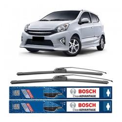 "Bosch Sepasang Wiper Frameless New Clear Advantage Mobil Toyota Agya (20"" & 14"") - 2 pcs/set"