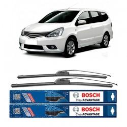 "Bosch Sepasang Wiper Frameless New Clear Advantage Mobil Nissan Grand Livina L10 (24"" & 14"" ) - 2 pcs/set"
