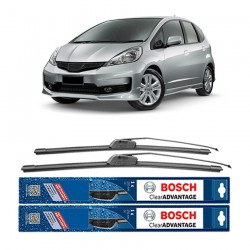 "Bosch Sepasang Wiper Frameless New Clear Advantage Mobil Honda Jazz (26"" & 14"" ) - 2 pcs/set"