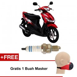 Bosch Busi Motor Matic Yamaha Mio UR4AC (2 Pcs) 0242050004 - Free Masker