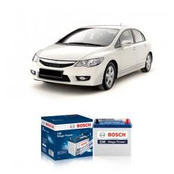 Jual Aki Kering Mobil Honda All New Civic Bosch Harga Murah - Maintenance Free (Bebas Perawatan)(46B24LS-NS60LSstd)42AhCCA400