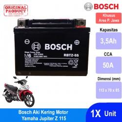 Jual Bosch Aki Kering Motor Yamaha Jupiter Z 115 Maintenance Free AGM RBTZ-5S - 0092M67041