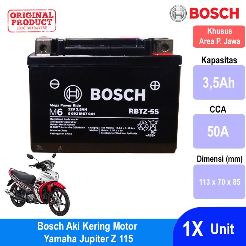 Jual Aki [Kering] u/ Motor Maintenance Free AGM RBTZ-7S Bosch dengan. Loading zoom