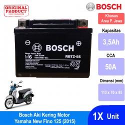 Jual Bosch Aki Kering Motor Yamaha New Fino 125 (2015) Maintenance Free AGM RBTZ-5S - 0092M67041