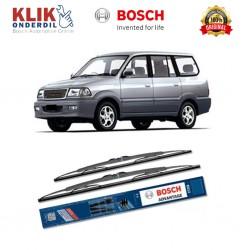 """Bosch Sepasang Wiper Kaca Mobil Toyota Kijang Kapsul Advantage 18"""" & 18"""" - 2Buah/Set - Jual Wiper Yang Bagus dg Harga Murah"""