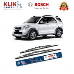 """Bosch Sepasang Wiper Kaca Mobil Toyota Rush Advantage 21"""" & 18"""" - 2 Buah/Set - Harga Wiper Paling Murah Merk Terbaik Bagus"""