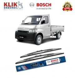 "Bosch Sepasang Wiper Kaca Mobil Daihatsu Gran Max Pick Up Advantage 19"" & 19"" - 2 Buah/Set - Harga Wiper Murah Merk Terbaik"