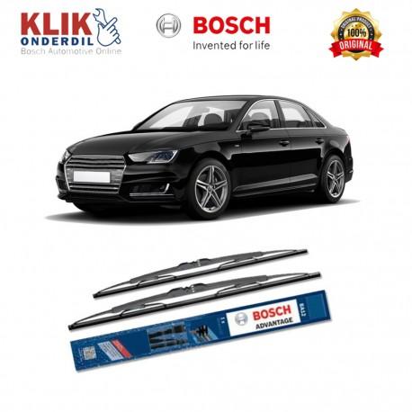 "Bosch Sepasang Wiper Kaca Mobil Audi A3 Advantage 21"" & 19"" - 2 Buah/Set - Harga Wiper Murah Merk Terbaik"
