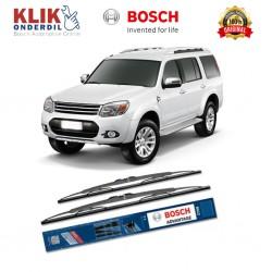 "Bosch Sepasang Wiper Kaca Mobil Ford Everest Advantage 18"" & 18"" - 2 Buah/Set - Harga Wiper Murah Merk Terbaik"