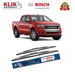 """Bosch Sepasang Wiper Kaca Mobil Ford Ranger Advantage 18"""" & 18"""" - 2 Buah/Set - Harga Wiper Murah Merk Terbaik"""