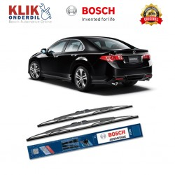"Bosch Sepasang Wiper Kaca Mobil Honda Accord CU (2008-on) Advantage 24"" & 22"" - 2 Buah/Set - Harga Wiper Murah Merk Terbaik"