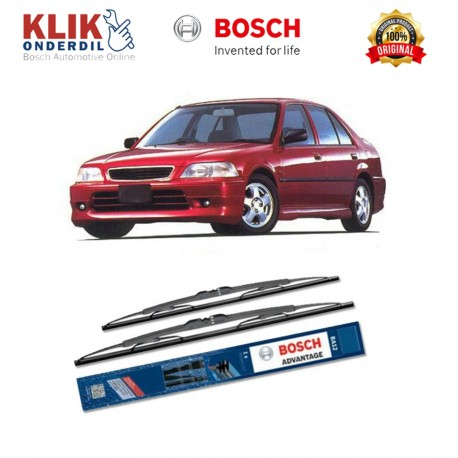 "Bosch Sepasang Wiper Kaca Mobil Honda Brio Advantage 22"" & 14"" - 2 Buah/Set - Harga Wiper Murah Merk Terbaik"