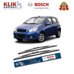 "Bosch Sepasang Wiper Kaca Mobil Chevrolet Aveo Hatchback Advantage 22"" & 16"" - 2 Buah/Set - Harga Wiper Murah Merk Terbaik"