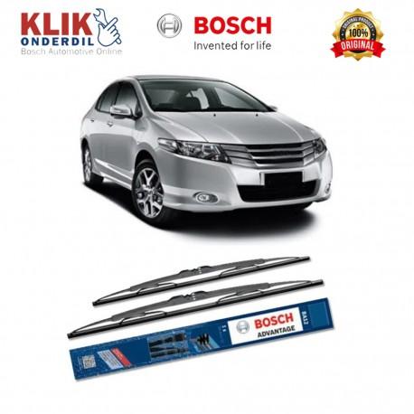 """Bosch Sepasang Wiper Kaca Mobil Honda City New (2008-on) Advantage 26"""" & 14"""" - 2 Buah/Set - Harga Wiper Murah Merk Terbaik"""
