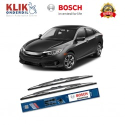"Bosch Sepasang Wiper Kaca Mobil Honda Civic FD (2005-on) Advantage 26"" & 22"" - 2 Buah/Set - Harga Wiper Murah Merk Terbaik"