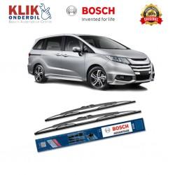 """Bosch Sepasang Wiper Kaca Mobil Honda Jazz GD (2004-2008) Advantage 24"""" & 14"""" - 2 Buah/Set - Harga Wiper Murah Merk Terbaik"""