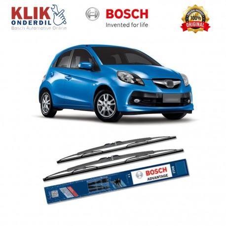 """Bosch Sepasang Wiper Kaca Mobil Honda Mobilio Advantage 22"""" & 14"""" - 2 Buah/Set - Harga Wiper Murah Merk Terbaik"""