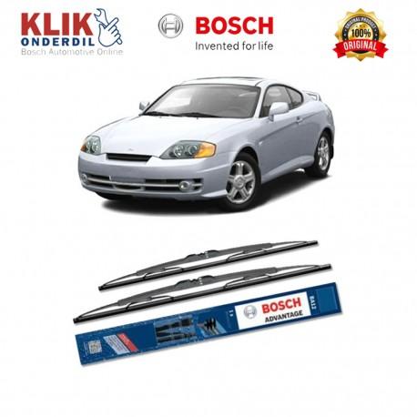 "Bosch Sepasang Wiper Kaca Mobil Hyundai Coupe (2001-2009) Advantage 21"" & 18"" - 2 Buah/Set"