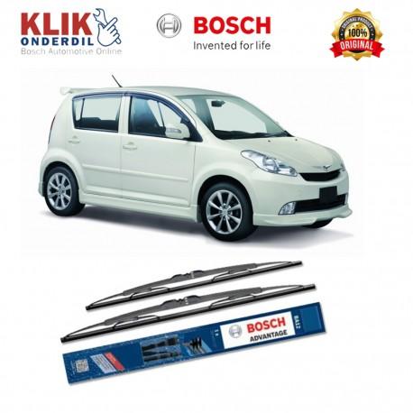 "Bosch Sepasang Wiper Kaca Mobil Daihatsu Sirion Advantage 21"" & 17"" - 2 Buah/Set - Harga Wiper Murah Merk Terbaik"