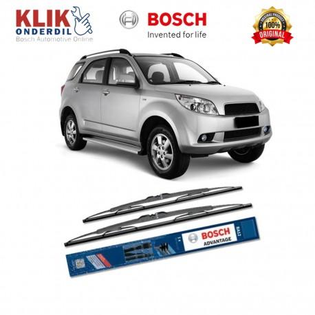 "Bosch Sepasang Wiper Kaca Mobil Daihatsu Terios Advantage 21"" & 18"" - 2 Buah/Set - Harga Wiper Murah Merk Terbaik"