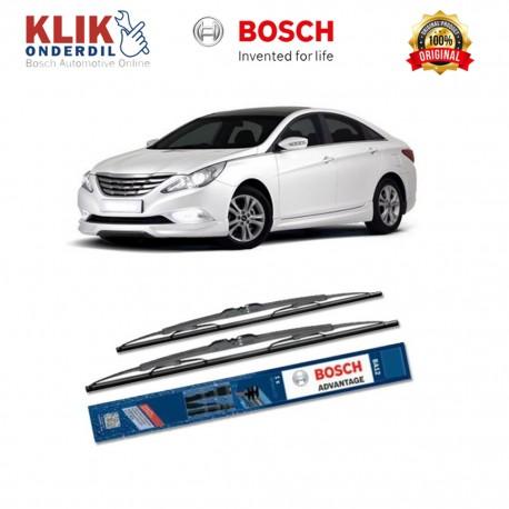 "Bosch Sepasang Wiper Kaca Mobil Hyundai Sonata YF (2010-on) Advantage 26"" & 18"" - 2 Buah/Set"