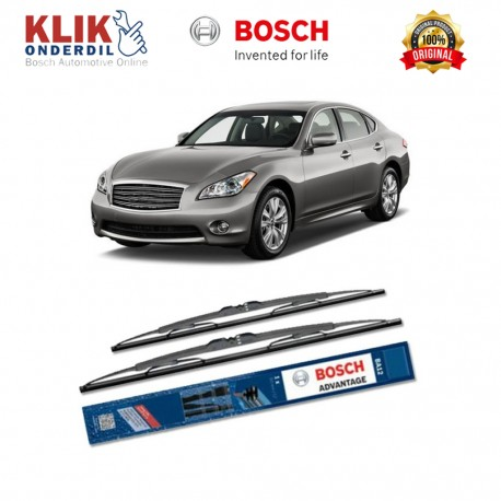 "Bosch Sepasang Wiper Kaca Mobil Infiniti M-Serie (2010-on) Advantage 24"" & 19"" - 2 Buah/Set"