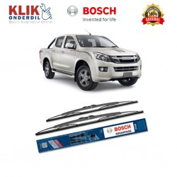 "Bosch Sepasang Wiper Kaca Mobil Isuzu D-Max (2003-on) Advantage 22"" & 19"" - 2 Buah/Set"