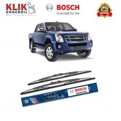 "Bosch Sepasang Wiper Kaca Mobil Isuzu Rodeo D-max (2004-on) Advantage 21"" & 19"" - 2 Buah/Set"