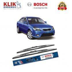 "Bosch Sepasang Wiper Kaca Mobil KIA Pride New (2005-on) Advantage 22"" & 16"" - 2 Buah/Set"