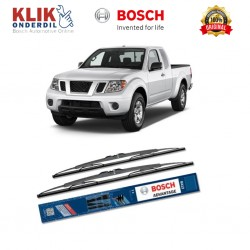 "Bosch Sepasang Wiper Kaca Mobil Nissan Frontier D22 Advantage 18"" & 18"" - 2 Buah/Set - Harga Wiper Murah Merk Terbaik"