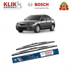 "Bosch Sepasang Wiper Kaca Mobil Mazda 2 (2015-on) Advantage 22"" & 17"" - 2 Buah/Set"