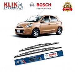 "Bosch Sepasang Wiper Kaca Mobil Nissan March K13 Advantage 21"" & 14"" - 2 Buah/Set - Harga Wiper Murah Merk Terbaik"