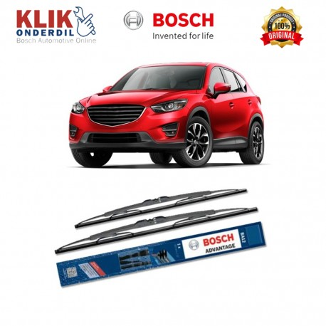 "Bosch Sepasang Wiper Kaca Mobil Mazda B-Serie (2003-2006) Advantage 19"" & 19"" - 2 Buah/Set"