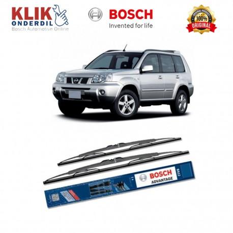 "Bosch Sepasang Wiper Kaca Mobil Nissan X-Trail T30 Advantage 24"" & 16"" - 2 Buah/Set - Harga Wiper Murah Merk Terbaik"