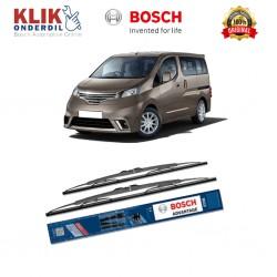 """Bosch Sepasang Wiper Kaca Mobil Nissan Evalia Advantage 24"""" & 16"""" - 2 Buah/Set - Harga Wiper Murah Merk Terbaik"""