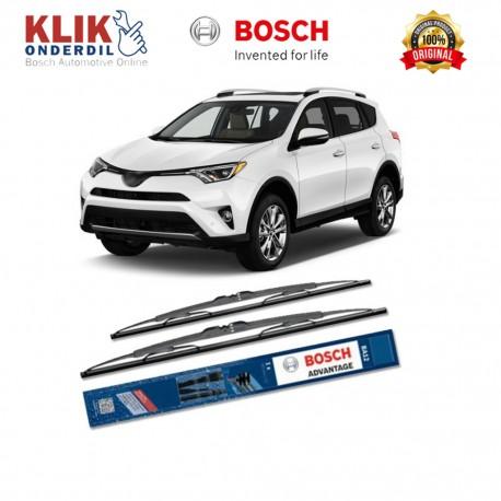 """Bosch Sepasang Wiper Kaca Mobil Toyota Prius W30 (2009-on) Advantage 26"""" & 16"""" - 2 Buah/Set"""