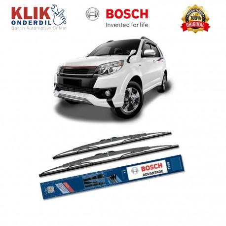 "Bosch Sepasang Wiper Kaca Mobil Toyota RAV4 (2000-2005) Advantage 24"" & 19"" - 2 Buah/Set"