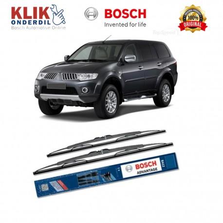 """Bosch Sepasang Wiper Kaca Mobil Mitsubishi Pajero Sport Advantage 21"""" & 18"""" - 2 Buah/Set - Harga Wiper Murah Merk Terbaik"""