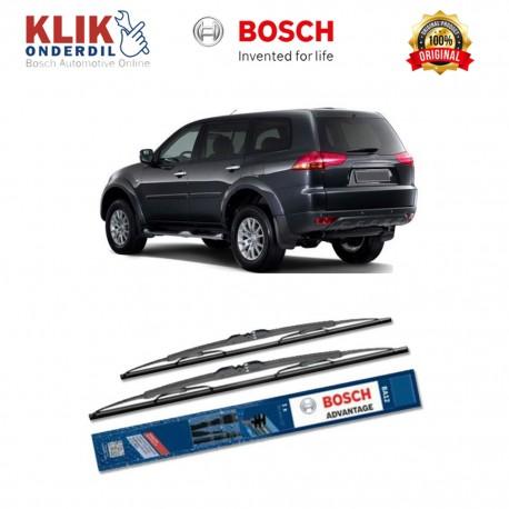 """Bosch Sepasang Wiper Kaca Mobil Mitsubishi Pajero Sport KH Advantage 21"""" & 18"""" - 2 Buah/Set - Harga Wiper Murah Merk Terbaik"""